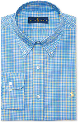 Polo Ralph Lauren Men's Classic/Regular Fit Plaid Poplin Dress Shirt $98.50 thestylecure.com