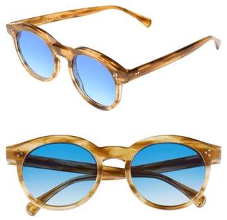 Wildfox Couture Harper Zero 53mm Round Keyhole Sunglasses