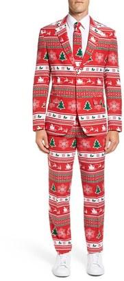 Men's Opposuits 'Winter Wonderland' Trim Fit Two-Piece Suit With Tie $99.99 thestylecure.com