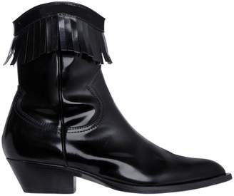 Philosophy di Lorenzo Serafini 40mm Brushed Leather Fringe Boots