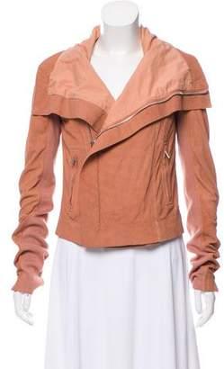 Rick Owens Draped Leather Jacket