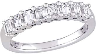 Affinity Diamond Jewelry Affinity 14K 9/10 cttw Emerald-cut Diamond 8-Stone Band Ring