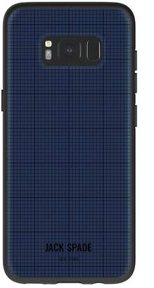 Jack Spade Printed Clear Case for Samsung Galaxy S8 - Graph Check\u002FNavy