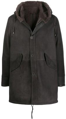 Herno drawstring hooded coat