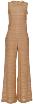 M Missoni Knit Jumpsuit with Cotton and Metallic Thread