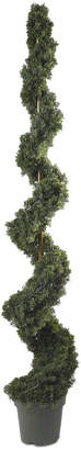Nearly Natural 6' Cedar Spiral Indoor/Outdoor Artificial Tree