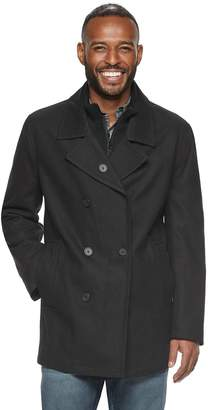 Andrew Marc Am Studio By Men's AM Studio by Double-Breasted Wool-Blend Peacoat with Bib