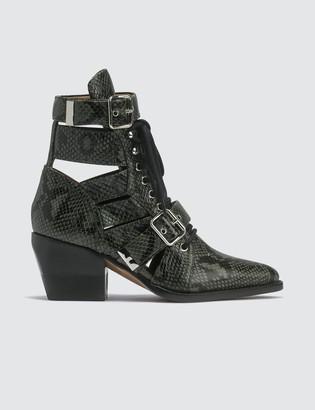 Chloé Python Print Leather Boots