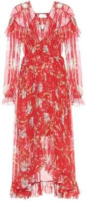 Zimmermann Corsair printed silk dress