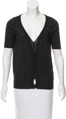 Vera Wang Short Sleeve V-Neck Cardigan $80 thestylecure.com
