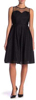 Gracia Stripe Mesh Sleeveless Dress