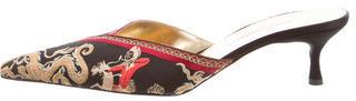 Dolce & GabbanaDolce & Gabbana Jacquard Pointed-Toe Mules