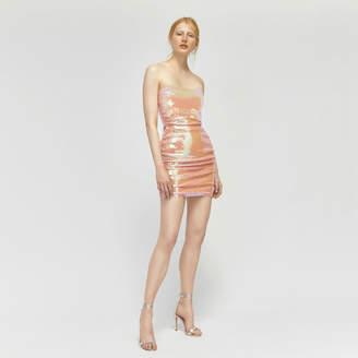 Warehouse Ashish Sequin Bandeau Dress