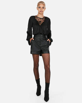 Express Volume Sleeve Lace Blouse