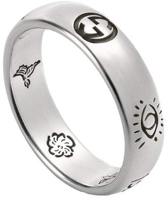 cb2bfd9fa0cd Gucci Blind For Love ring in silver