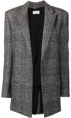 Saint Laurent plaid fitted blazer