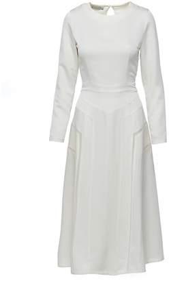 Shopyte Daisy White Silk Dress 3
