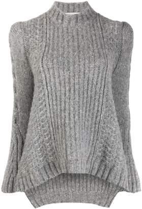 Stella McCartney rib-knit structured-shoulder sweater