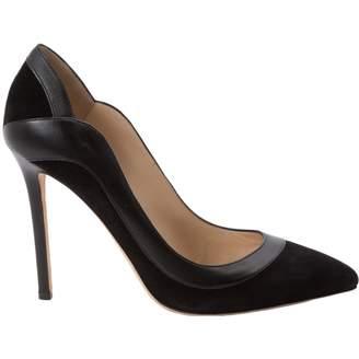 Elie Saab Black Leather Heels