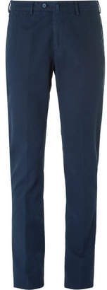 Loro Piana Slim-Fit Washed Stretch-Cotton Trousers