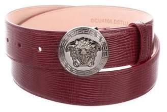 Versace Leather Embossed Medusa Belt w/ Tags