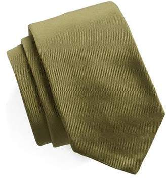 Todd Snyder Hand Finished Solid Silk Tie in Olive