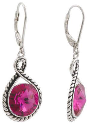 Sterling Silver Swarovski Crystal Scarlet Rope Earrings