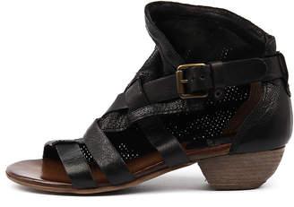 Miz Mooz Cassidy Black Sandals Womens Shoes Casual Heeled Sandals