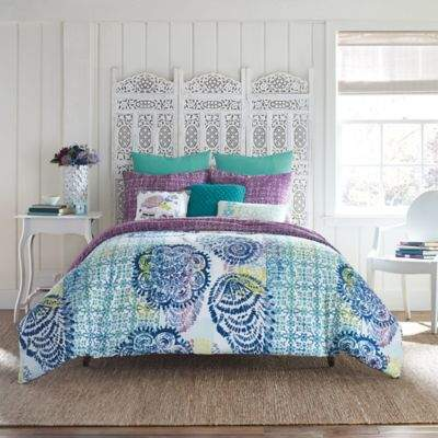 AnthologyTM Willa Twin Duvet Cover Set in Teal