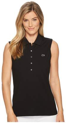 Lacoste Classic Sleeveless Slim Fit Polo Women's Clothing