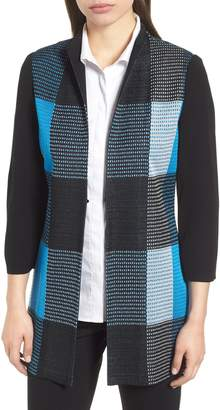 Ming Wang Plaid Jacket