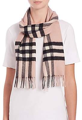 Burberry Women's Ash Rose Giant Check Cashmere Scarf
