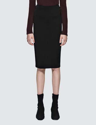 Alexander Wang Stretch Faille Ponte Midskirt With Back Zipper