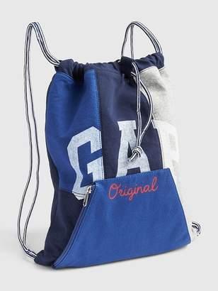 Gap Logo Spliced Fabric Drawstring Backpack