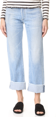 Citizens of Humanity Parker Relaxed Cuffed Crop Jeans $268 thestylecure.com