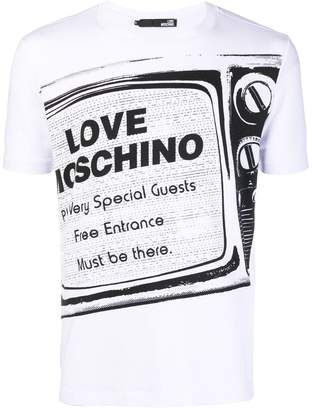 Love Moschino logo patch T-shirt