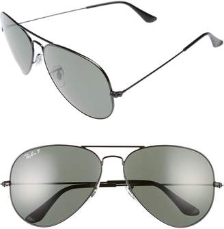 cea004955d at Nordstrom · Ray-Ban Icons 62mm Polarized Aviator Sunglasses