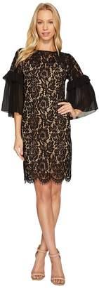Karen Kane Ruffle Sleeve Lace Dress Women's Dress