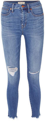 Madewell Distressed High-rise Skinny Jeans - Mid denim