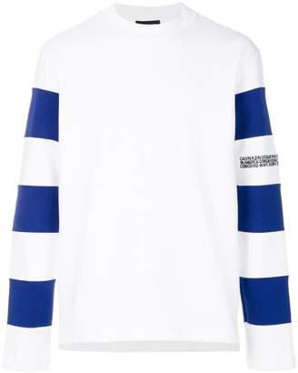 Calvin Klein striped sleeve sweatshirt