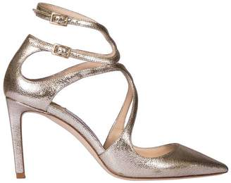 Jimmy Choo Heeled Sandals Sandals Lancer In Genuine Laminated Leather With Double Strap