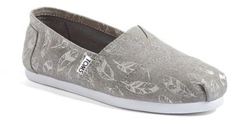 Women's Toms Classic - Feather Print Slip-On $54.95 thestylecure.com