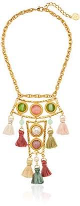 Ben-Amun Jewelry Spring Blush Silk Tassel Pendant Drop Necklace