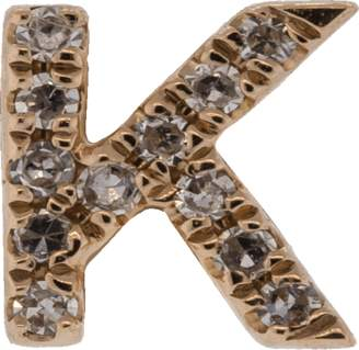 Ef Collection Diamond Initial K Stud Earring
