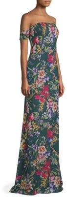 Sachin + Babi Galiana Off-The-Shoulder Floral Gown
