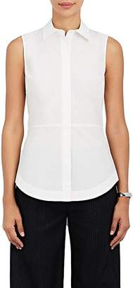 Derek Lam 10 Crosby WOMEN'S LACE-UP-BACK COTTON POPLIN TOP