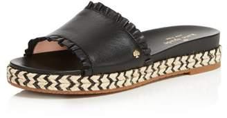 Kate Spade Women's Zahara Leather Slide Sandals