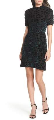 Chelsea28 Velvet Jacquard Sheath Dress