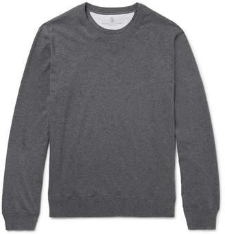 Brunello Cucinelli Fleece-Back Cotton-Jersey Sweatshirt