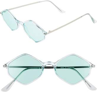 BP 48mm Geometric Flat Front Sunglasses